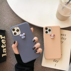 KAWS Style 3D Toy Silicone Shockproof Protective Designer iPhone Case For iPhone 11 Pro Max X XS Max XR 7 8 Plus - Casememe