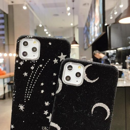 Starry Sky Furry Shockproof Protective Designer iPhone Case For iPhone SE 11 Pro Max X XS Max XR 7 8 Plus - Casememe