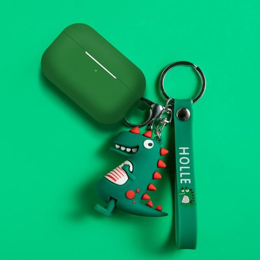 Dinasour Keychain Silicone Protective Case For Apple Airpods Pro - Casememe