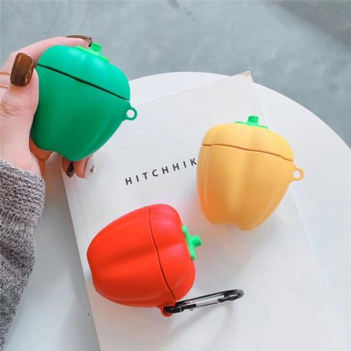 Cute Pepper Veggie Silicone Protective Shockproof Case For Apple Airpods 1 & 2 - Casememe