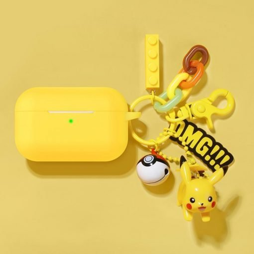 Pikachu Style Keychain Silicone Protective Case For Apple Airpods Pro - Casememe