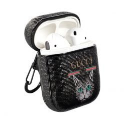 Gucci Style Cat Hard Protective Shockproof Case For Apple Airpods 1 & 2 - Casememe
