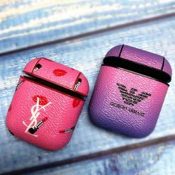 Giorgio Armani Saint Laurent Paris Style Lipsticks Leather Protective Shockproof Case For Apple Airpods 1 & 2 - Casememe