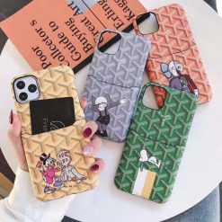 Luxury Skull Style Leather Cardholder Wallet Shockproof Protective Designer iPhone Case For iPhone 11 Pro Max X XS Max XR 7 8 Plus - Casememe