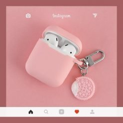 Oreo Cookie Pink Black Silicone Protective Shockproof Case For Apple Airpods 1 & 2 - Casememe