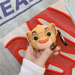 The Lion King Style Simba Cute Silicone Protective Case For Apple Airpods 1 & 2 - Casememe
