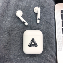 Palace Style Minimalism AirPods Skin Sticker Adhesive Protective Decal For Apple AirPods 1 & 2 - Casememe