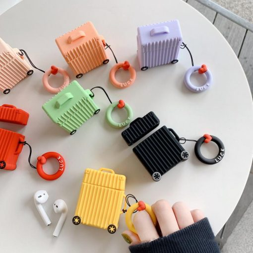Cute Luggage Box Silicone Protective Shockproof Case For Apple Airpods 1 & 2 - Casememe