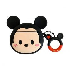 Disney Style Mickey Minnie Mouse Face Silicone Protective Shockproof Case For Apple Airpods 1 & 2 - Casememe