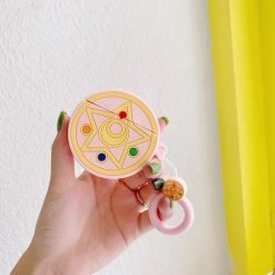 Sailor Moon Style Round Silicone Protective Shockproof Case For Apple Airpods 1 & 2 - Casememe