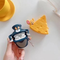 Tom And Jerry Style Cheese Silicone Protective Case For Apple Airpods 1 & 2 - Casememe