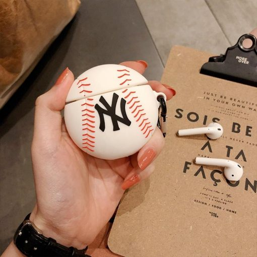 MLB Style Baseball Silicone Protective Case For Apple Airpods 1 & 2 - Casememe