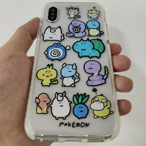 Pokemon Style Clear Silicone Shockproof Protective Designer iPhone Case For iPhone SE 11 Pro Max X XS Max XR 7 8 Plus - Casememe