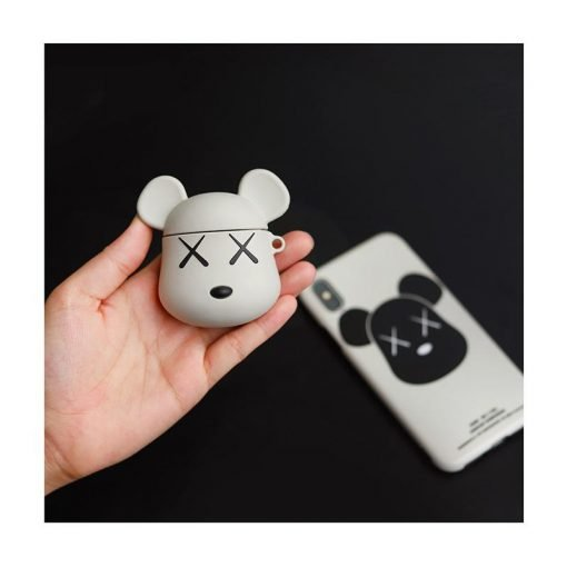 KAWS Street Fashion Silicone Protective Shockproof Case For Apple Airpods 1 & 2 - Casememe