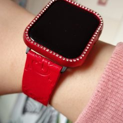 GC Style Red Leather Compatible With Apple Watch 38mm 40mm 42mm 44mm Band Strap For iWatch Series 4/3/2/1 - Casememe