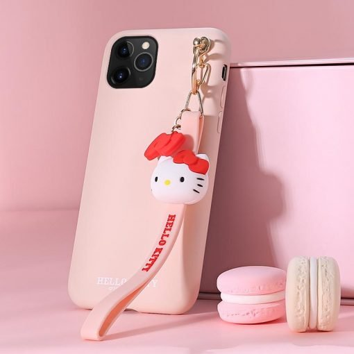 Hello Kitty Style Keychain Shockproof Protective Designer iPhone Case For iPhone SE 11 Pro Max X XS Max XR 7 8 Plus - Casememe