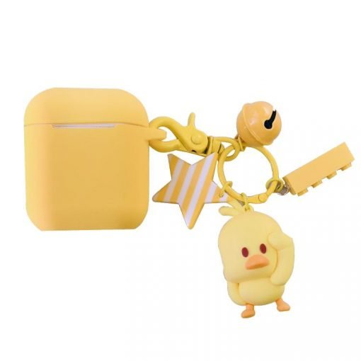 Cute Yellow Chicken Silicone Protective Shockproof Case For Apple Airpods 1 & 2 - Casememe