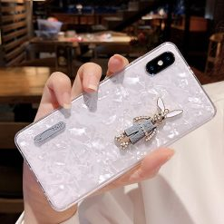 3D Rabbit Shell Clear Silicone Shockproof Protective Designer iPhone Case For iPhone SE 11 Pro Max X XS Max XR 7 8 Plus - Casememe