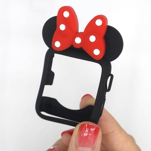 Disney Minnie Style Compatible With Apple Watch Silicone Case 38mm 40mm 42mm 44mm For iWatch Series 4/3/2/1 - Casememe