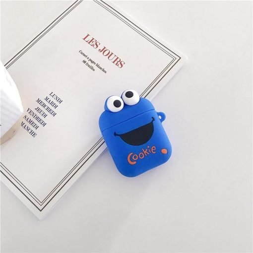 Sesame Street Elmo Cookie Silicone Protective Shockproof Case For Apple Airpods 1 & 2 - Casememe