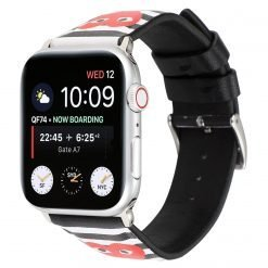 MORE COLORS Comme Des Garcons CDG Style Leather Compatible With Apple Watch 38mm 40mm 42mm 44mm Band Strap For iWatch Series 4/3/2/1 - Casememe