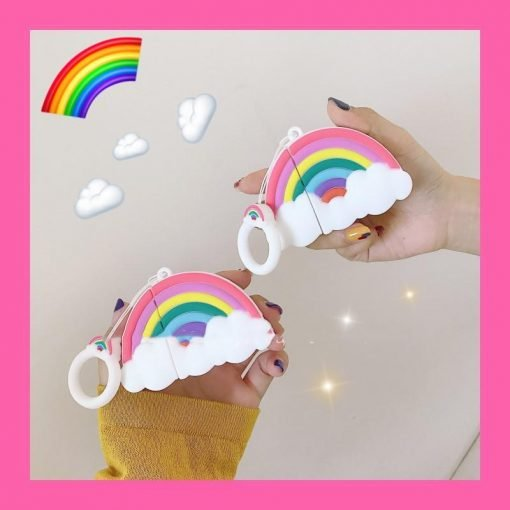 Rainbow Silicone Protective Case For Apple Airpods 1 & 2 - Casememe
