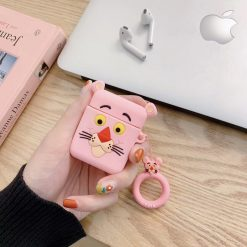 Pink Panther Style Silicone Designer Protective Shockproof Case For Apple Airpods 1 & 2 - Casememe