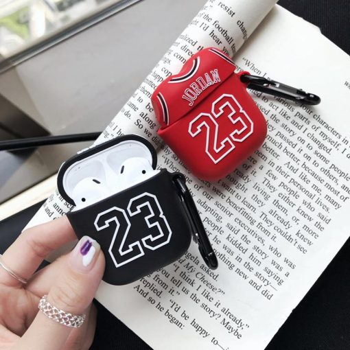 Air Jordan 23 Jersey Silicone Protective Shockproof Case For Apple Airpods 1 & 2 - Casememe