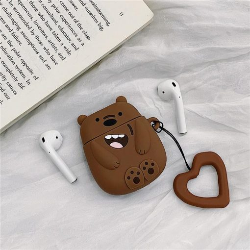 We Bare Bears Style Silicone Protective Case For Apple Airpods 1 & 2 - Casememe