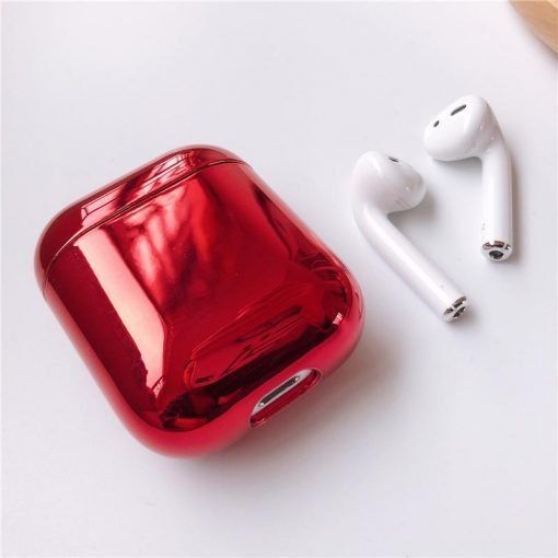 Shiny Metallic Edgy Hard Protective Shockproof Case For Apple Airpods 1 & 2 - Casememe