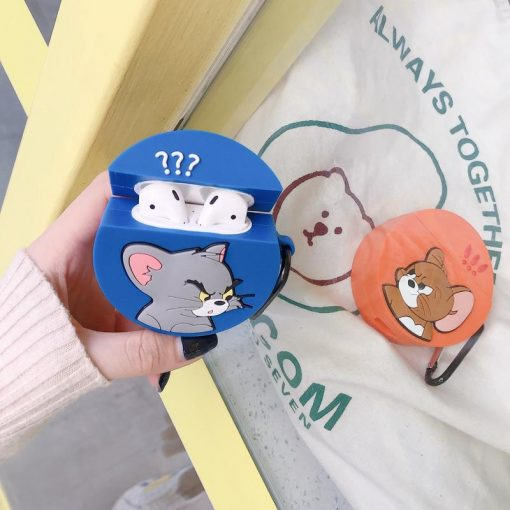 Tom And Jerry Style Silicone Protective Case For Apple Airpods 1 & 2 - Casememe