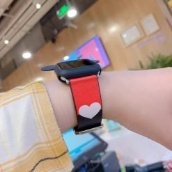 Disney Mickey Mouse Style Silicone Watch Case Compatible With Apple Watch 38mm 40mm 42mm 44mm Leather Heart Band Strap For iWatch Series 4/3/2/1 - Casememe