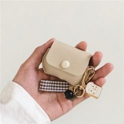 Leather Pouch Toast Keychain Protective Case For Apple Airpods Pro - Casememe