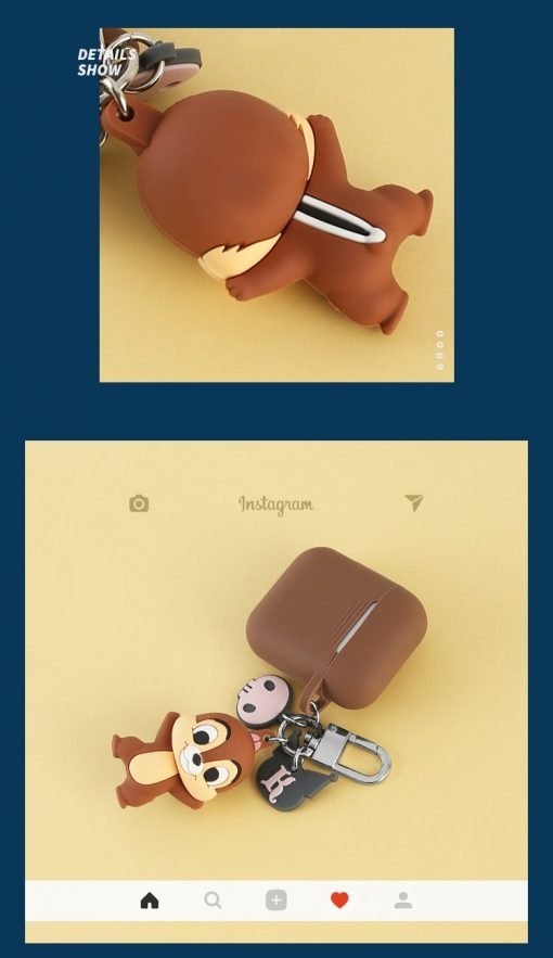 Disney Style Chip n Dale Silicone Protective Shockproof Case For Apple Airpods 1 & 2 - Casememe