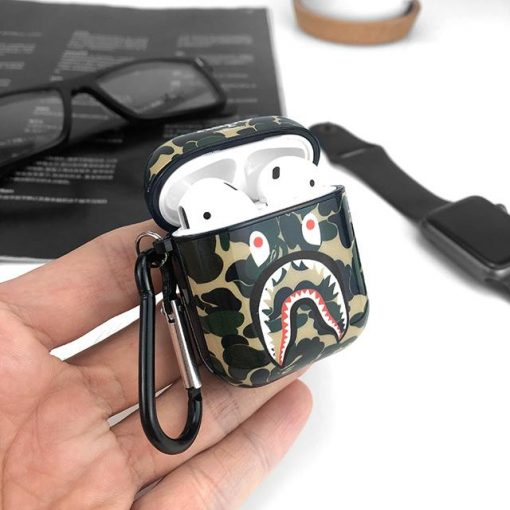 Aape Style Camo Hard Silicone Protective Shockproof Case For Apple Airpods 1 & 2 - Casememe