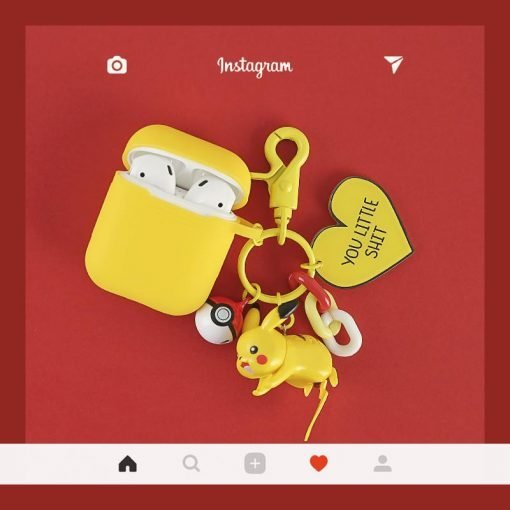 Pikachu Cute Trendy Silicone Protective Shockproof Case For Apple Airpods 1 & 2 - Casememe