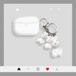 Teddy Bear Keychain Silicone Protective Case For Apple Airpods Pro - Casememe