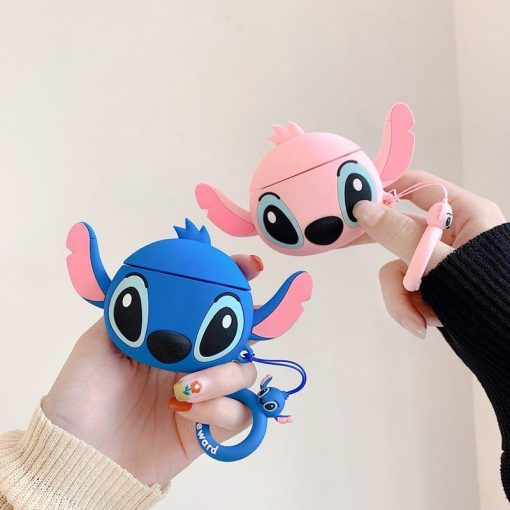 Stitch Style Face Silicone Protective Shockproof Case For Apple Airpods 1 & 2 - Casememe