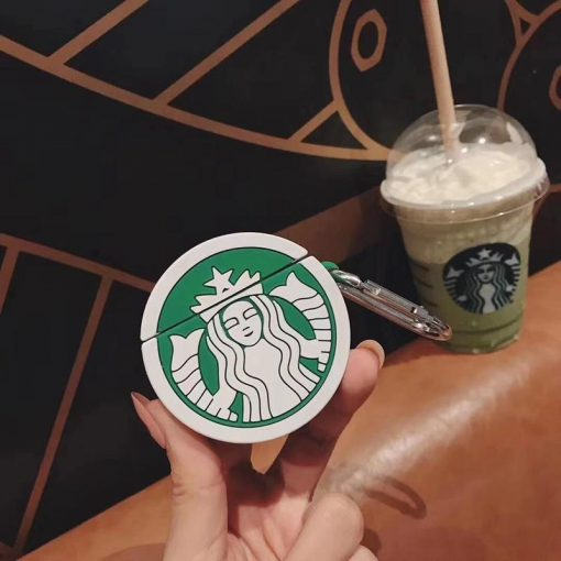 Starbucks Style Round Silicone Protective Case For Apple Airpods 1 & 2 - Casememe