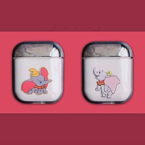 Dumbo Style Flying Elephant Clear Hard Protective Shockproof Case For Apple Airpods 1 & 2 - Casememe