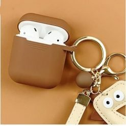 Leather Dinosaur Keychain Silicone Protective Shockproof Case For Apple Airpods 1 & 2 - Casememe
