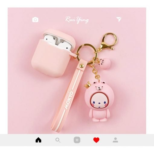 Cute Mokyo Style Silicone Protective Case For Apple Airpods 1 & 2 - Casememe