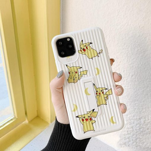 Pikachu Style Luggage Silicone Kickstand Shockproof Protective Designer iPhone Case For iPhone 11 Pro Max X XS Max XR 7 8 Plus - Casememe