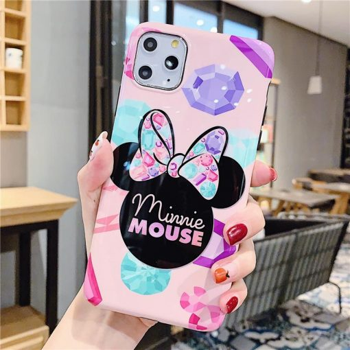 Minnie Mouse Style Glossy Shockproof Protective Designer iPhone Case For iPhone SE 11 Pro Max X XS Max XR 7 8 Plus - Casememe