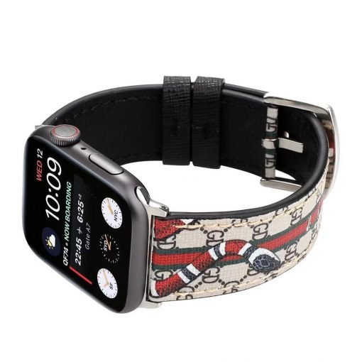 GC Style Snake Leather Compatible With Apple Watch iWatch 38mm 40mm 42mm 44mm Band Strap For iWatch Series 4/3/2/1 - Casememe