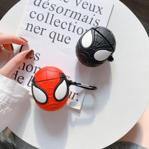 Marvel Style Spiderman Face Silicone Protective Shockproof Case For Apple Airpods 1 & 2 - Casememe