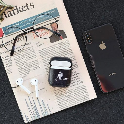Astronaut Janitor Space Leather Protective Shockproof Case For Apple Airpods 1 & 2 - Casememe