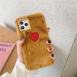 Heart Furry Shockproof Protective Designer iPhone Case For iPhone 11 Pro Max X XS Max XR 7 8 Plus - Casememe