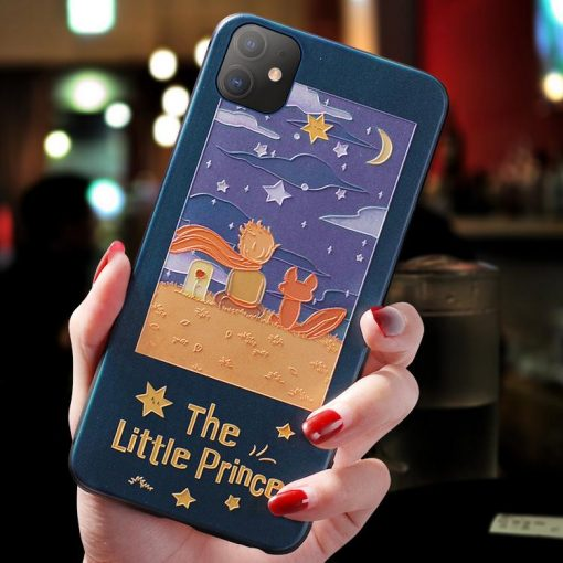 The Little Prince Style Sculpted Shockproof Protective Designer iPhone Case For iPhone SE 11 Pro Max X XS Max XR 7 8 Plus - Casememe
