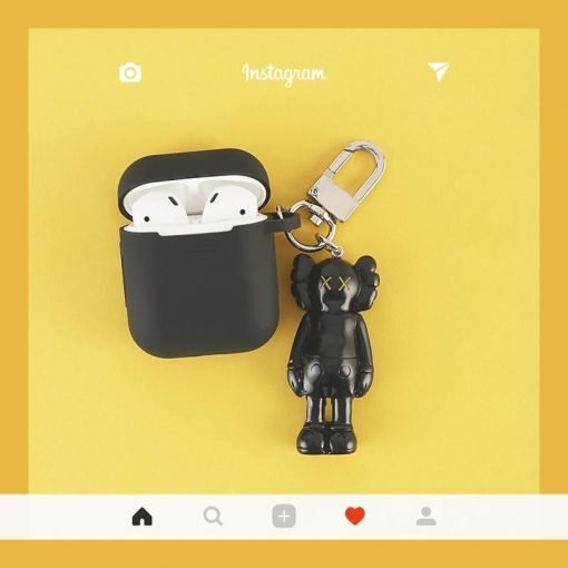 KAWS x Sesame Street Style Street Fashion Silicone Protective Shockproof Case For Apple Airpods 1 & 2 - Casememe
